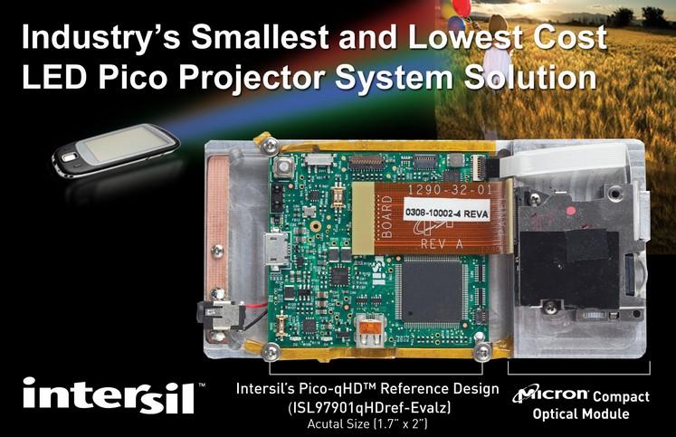 Intersil推出微型投影仪系统Pico-qHD