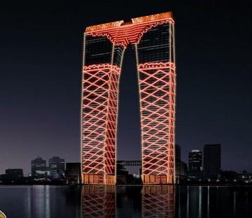 北京市建筑设计研究院灯光工作室设计总监刘洋设计的丝网袜夜景设计