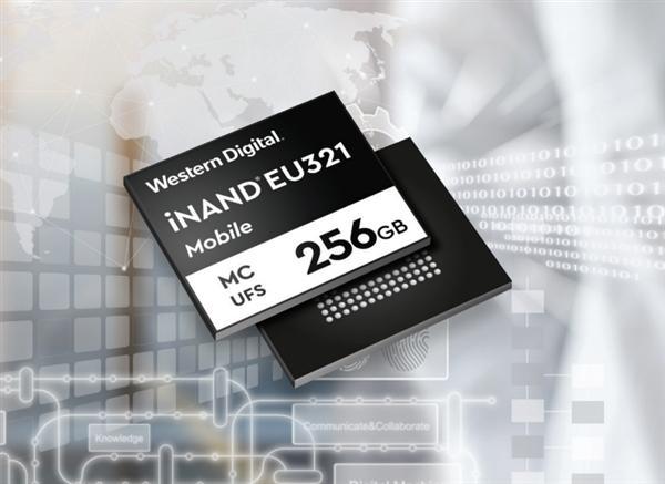 为手机存储扩容 西部数据推96层3D NAND UFS 2.1嵌入式闪存盘