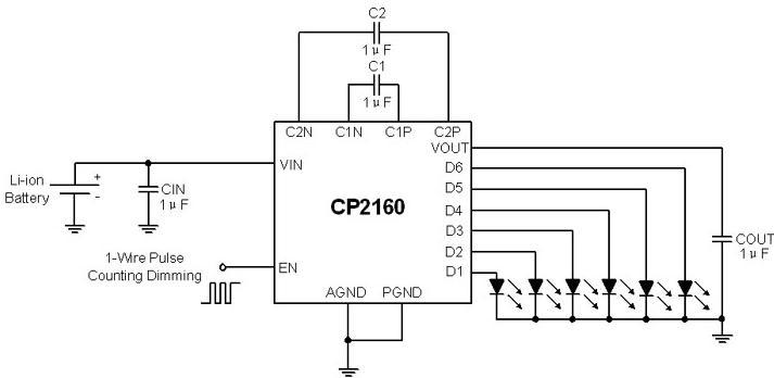 cp2160典型应用电路图