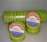 黄绿标识带PVC电工胶带、厂家直销PVC电工胶带