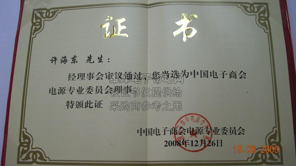 中国电子商会电源专业委员会理事
