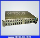 16 槽插卡式光纤收发器机架