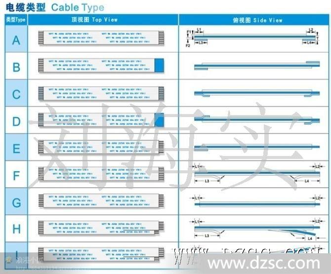 包电缆的ffc柔性扁平铝箔排线克快203图纸图片