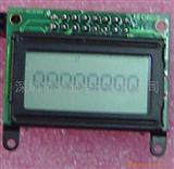 液晶显示器(字符点阵液晶模块8*01)(图)