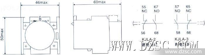 捷配电子市场网 元器件 继电器 时间(延时)继电器  la系列空气延时头