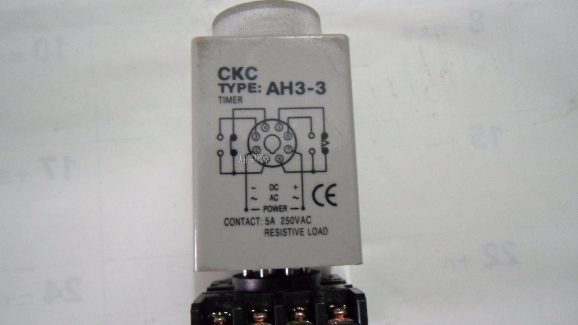 [图]供应松菱时间继电器ah3-3; 时间继电器接线图; 供应台湾松菱