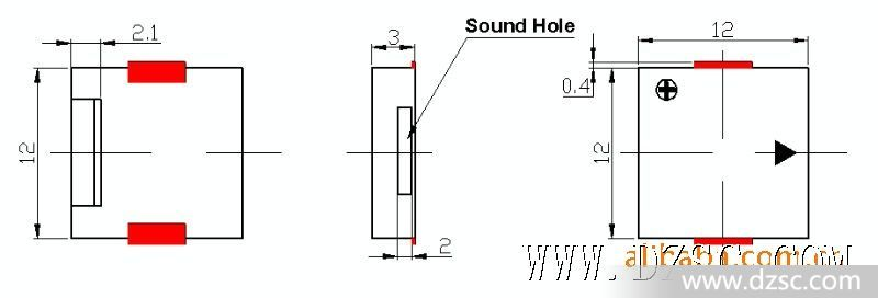 5v有源蜂鸣器电路_品牌:联基 型号:lzq-1230 种类:蜂鸣器(片) 驱动方式:电磁式 是否有源