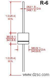 普通整流二极管6A8