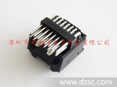 汽车音响连接器,电源插座, iso插座16p针座