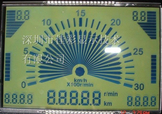 深圳LCD生产汽车仪表电动车里程表用LCD液