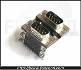 D-SUB连接器|DB 9P 公头 + DB 9P 公头