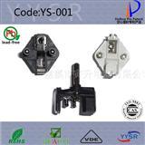 VDE欧标认证三芯带接地孔电源线插头