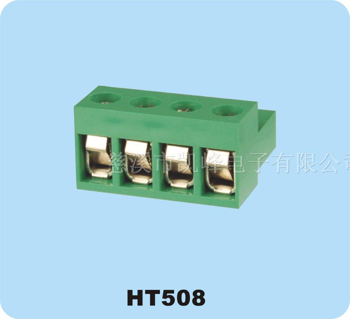 Pitch:5.08mm 材质及电镀 螺丝:M2.5,钢,镀锌 触点材料:磷青铜 塑件:PA66, UL94V-0 电气性能 额定电压:300V 额定电流:15A 接触电阻:20m? 绝缘电阻:5000M?/1000V 耐电压:AC1500V/1Min 使用线径:28-12AWG 2.5mm² 机械性能 温度范围:-40ºC~+105ºC 瞬时温度:+250ºC 5秒 扭距:0.