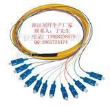 网络级12芯sc束状尾纤  SC/PC12芯束状尾纤 sc跳线